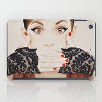 evil iPad Cases featuring Speak No Evil by anna hammer