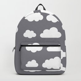Grey clouds on grey winter skies Backpack