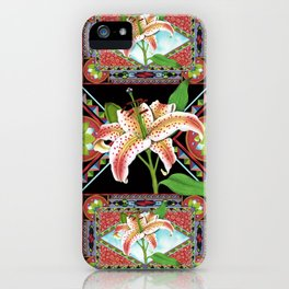 Gilding the Lily Pattern iPhone Case