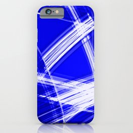 Darkened mirrored edges with nautical diagonal lines of intersecting luminous bright energy waves. iPhone Case