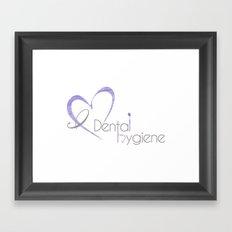 I (heart) Dental Hygiene Framed Art Print