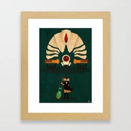 Red vs Jerk Framed Art Print