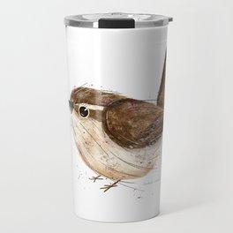 Carolina Wren Bird Illustration  Travel Mug