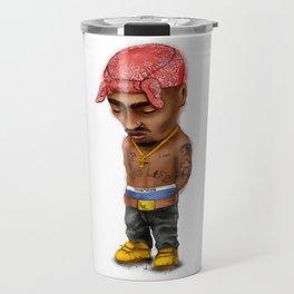 Pac, gangster rap, mini icon. Travel Mug