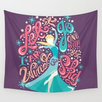 risa rodil Wall Tapestries featuring Snow Queen by Risa Rodil