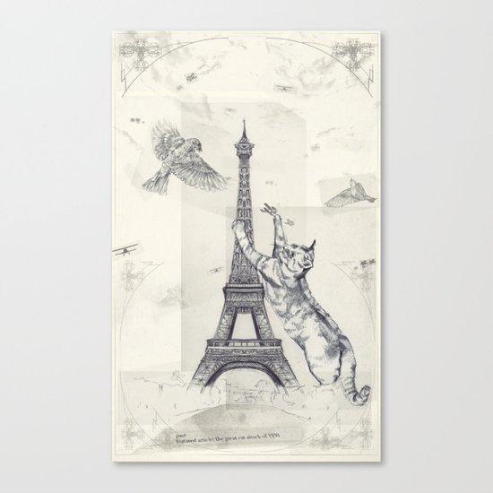 cat attack Canvas Print