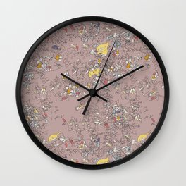 Blind Floral Wall Clock