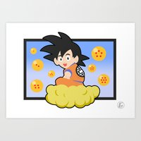 goku Art Prints featuring Goku by CmOrigins