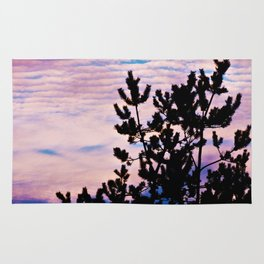 Pine Trees and Surf Clouds Rug