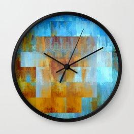 Golden Cubed | Minimalist | Abstract | Modern | Shapes | Geometrix Wall Clock