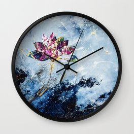 Kintsugi Lotus Wall Clock