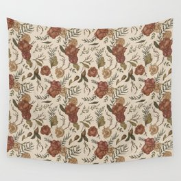 Antique Floral Pattern Wall Tapestry