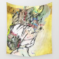 archan nair Wall Tapestries featuring Dusk by Archan Nair