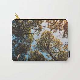 Trees and sky in sunlight- forest landscape - nature photography Carry-All Pouch