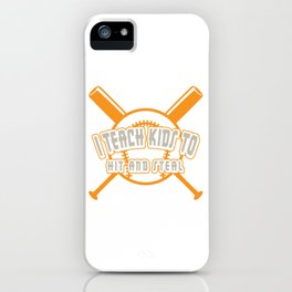 Unique Baseball Shirt For Sporty You T-shirt Design Field Bat Home Run Sports Pocket Gloves iPhone Case