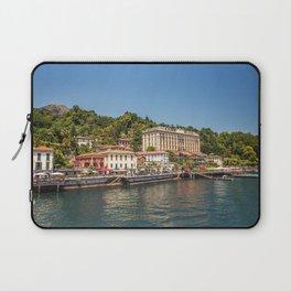 Italy Bellagio Lake Pier Cities Building Berth Marinas Houses Laptop Sleeve