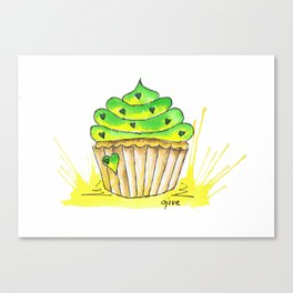 Cupcake green with envy Canvas Print