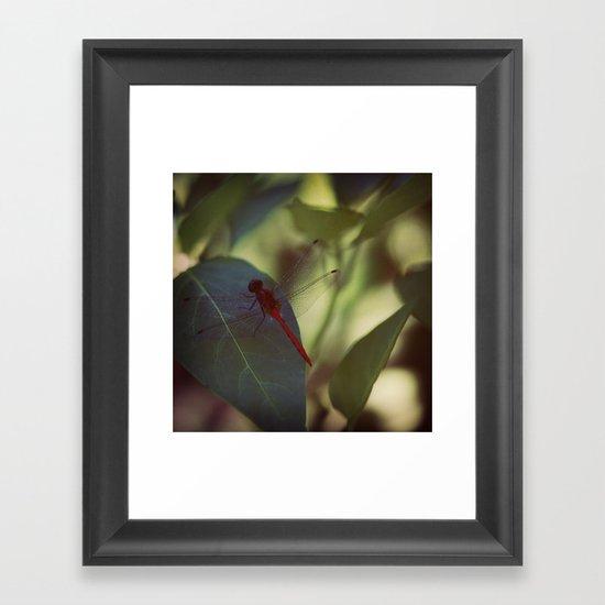 In the Green Framed Art Print