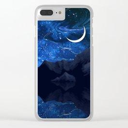 Moonlit Awakening Clear iPhone Case