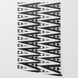 Tribal pattern in black and white. Wallpaper