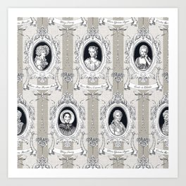 Science Women Toile de Jouy Art Print