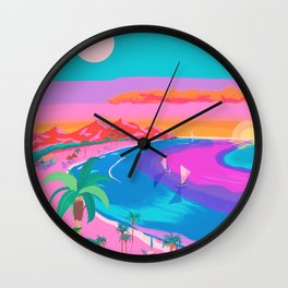 Sunset with Sunrise Wall Clock