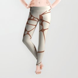 Cavern Clay SW 7701 Abstract Mosaic Pattern 1 on Creamy Off White SW7012 Leggings
