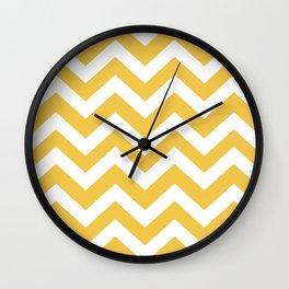 Maize (Crayola) - yellow color -  Zigzag Chevron Pattern Wall Clock