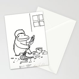 Ape Mops the Floor Stationery Cards
