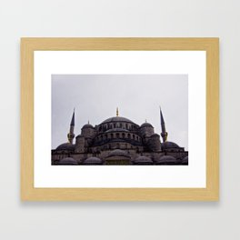 Blue Mosque Framed Art Print