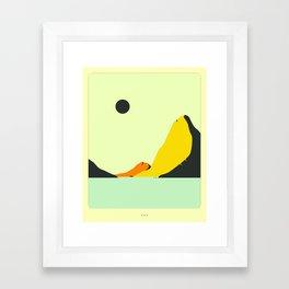 Minimal Landscape 23 (Seascape) Framed Art Print