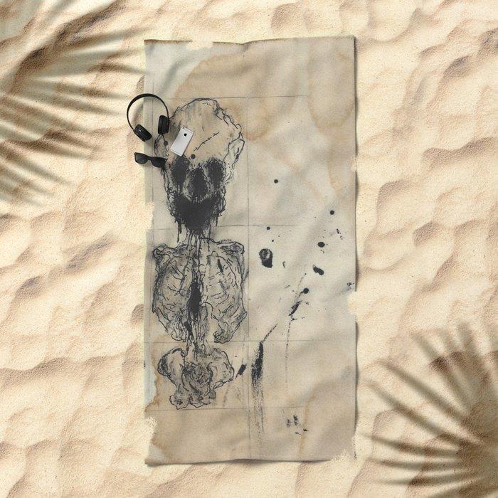 Anatomical Sketch 1 Beach Towel By Idttt Media Society6
