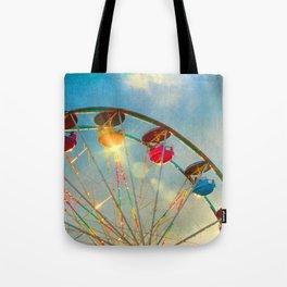 Light up the Sky carnival ferris wheel  Tote Bag