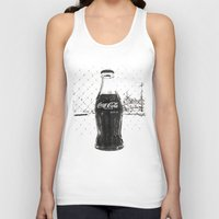 coke Tank Tops featuring Frosty Coke by Vorona Photography