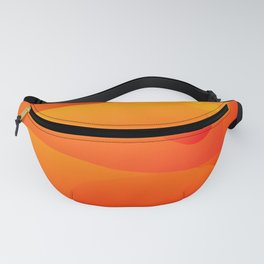 Colorful Orange Abstract Art Design Fanny Pack