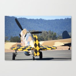 P-40 Taxiing Canvas Print