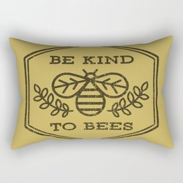 Be Kind To Bees Rectangular Pillow