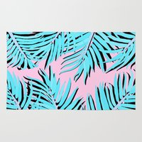 palm tree Area & Throw Rugs featuring Palm tree by Hanna Kastl-Lungberg