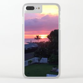 Sun Setting 3 Clear iPhone Case