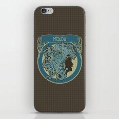 medusa silhouette (dark) iPhone Skin