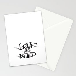 Love Is Blind Stationery Cards
