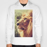 lion Hoodies featuring Lion by Jazza Vock