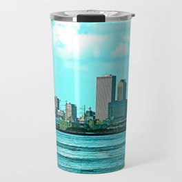 New Orleans Skyline (video game graphic style) Travel Mug