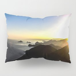 View of sunset. Pillow Sham