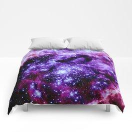galaXy. Stars Purple Pink Nebula Comforters