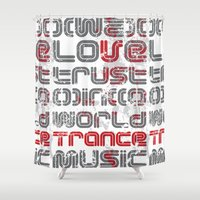 coldplay Shower Curtains featuring Trust in Trance Music by Sitchko Igor