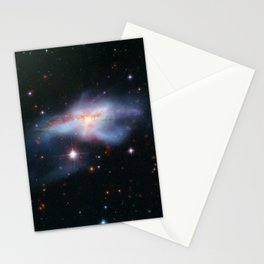 Pair of colliding galaxies called NGC 6240 Stationery Cards