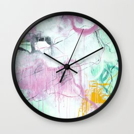 Chrystarium - Square Abstract Expressionism Wall Clock