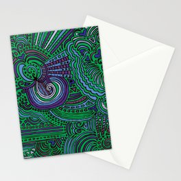 Drawing Meditation - Green Stationery Cards