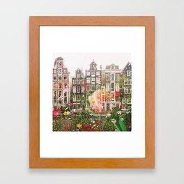 Flowers in Amsterdam Framed Art Print